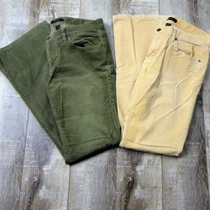 2 Pairs Of Womens Express Flare Bottom Corduroy 6